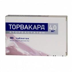 Торвакард, табл. п/о пленочной 40 мг №90